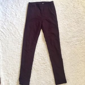 Burgundy high waisted cropped pants